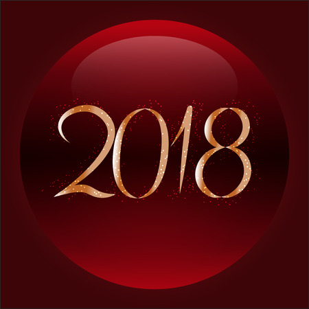 Christmas abstract shiny background, red color. 2018 new year.