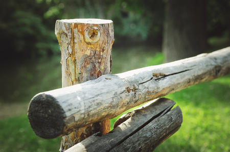 old wooden decorative fence