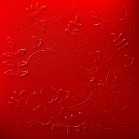 Fashionable red background with embossed.
