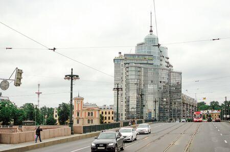 Saint Petersburg, RUSSIA - July 08, 2018: Beautiful modern business building in St. Petersburg.