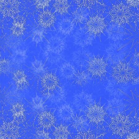 Christmas blue snowflake background design Zdjęcie Seryjne