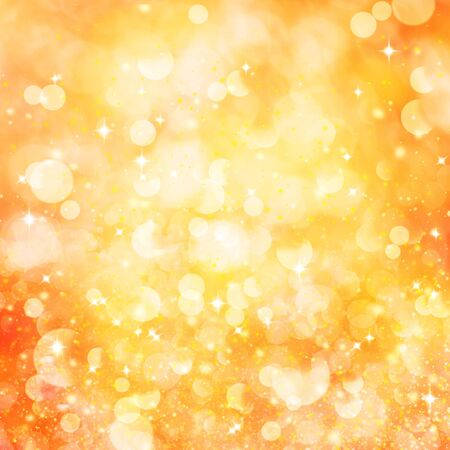 Abstract yellow background with bokeh. Square orientation.