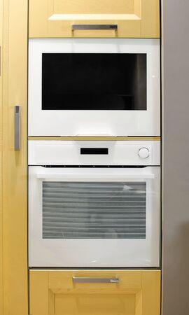 Built-in modern appliances in the kitchen.