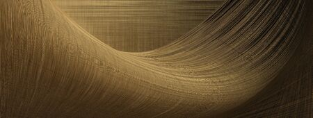 Abstract panoramic background with stripes, dark yellow color.