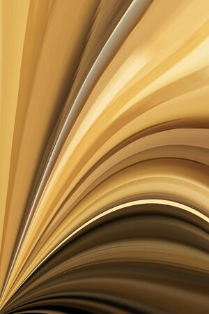 Tight pattern of many contiguous thin curves of Golden color for background. Modern design.