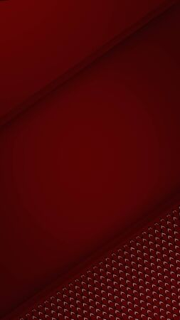 Simple red vertical background. Mobile phone screen saver design. 3d illustration. Фото со стока