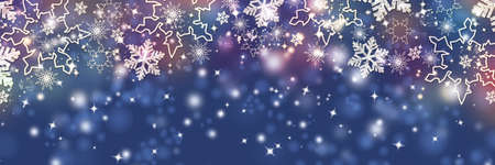 Christmas pattern with snowflakes. Happy New Year blue background. colorful template for greeting cards. Stock Photo