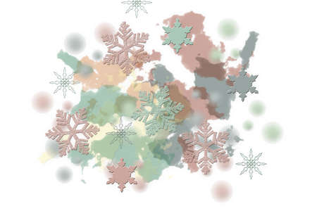 Winter card with snowflakes. Creative Christmas background.