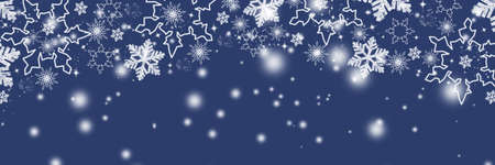 Snowflakes design for winter with text space place. Snowflakes background. greeting card for winter.