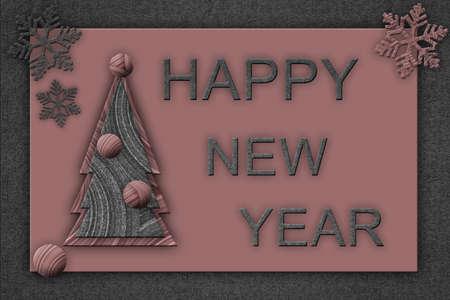 Creative Christmas card with the inscription