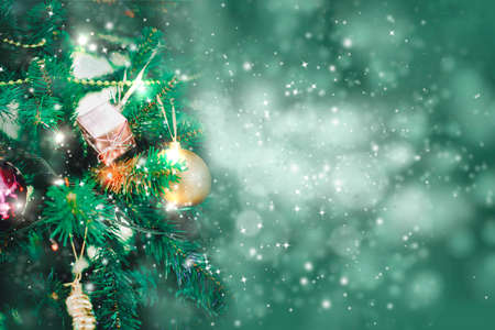 Christmas holidays background with copy space for your text Stock Photo