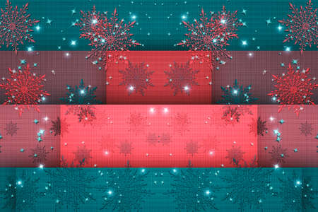 Vintage Christmas elements, snowflakes and snow flakes pattern background.