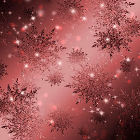 Creative Christmas background with snowflakes. Stock Photo