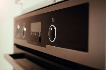 Electric oven. Close-up, selective focus.