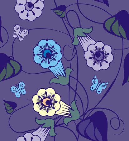 bindweed: Bindweed flowers a seamless pattern .