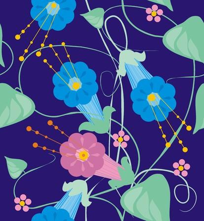 bindweed: Bindweed flowers of climbing plant
