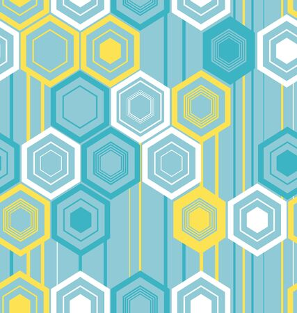 Abstract texture of hexagons Ilustrace