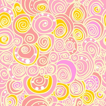Hand drawn spiral lines forming curls