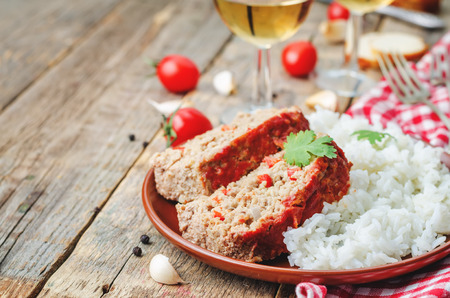 meatloaf: meatloaf with onion, pepper and garlic