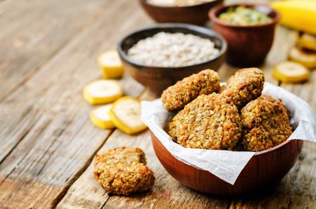 oats pumpkin and sunflower seeds banana cookies. toning. selective focus Standard-Bild