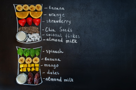 smoothies ingredients. toning. selective focus Stock Photo