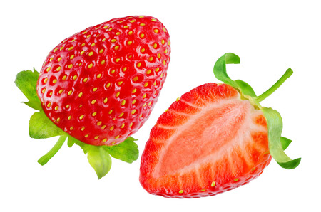 Fresh strawberries on a white background. toning. selective focus Banco de Imagens - 99653638
