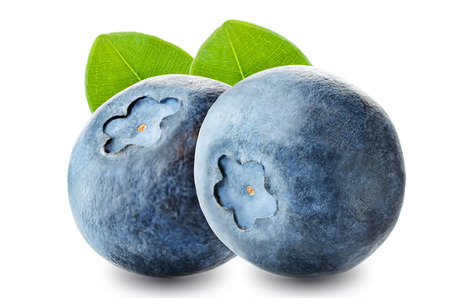 Fresh Blueberries on a white background. toning. selective focus