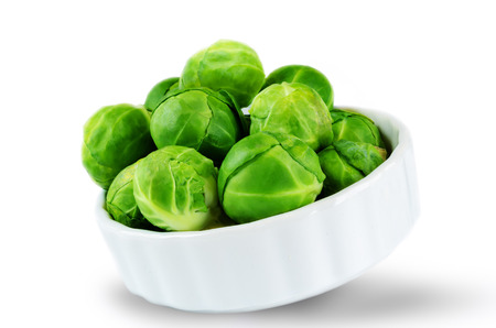 Brussels sprouts isolated. toning. selective focus