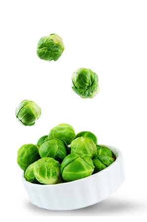 Brussels sprouts isolated. toning. selective focus 免版税图像 - 104841636
