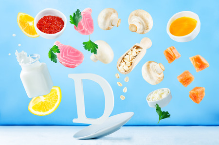 Flying foods rich in vitamin d. Healthy eating