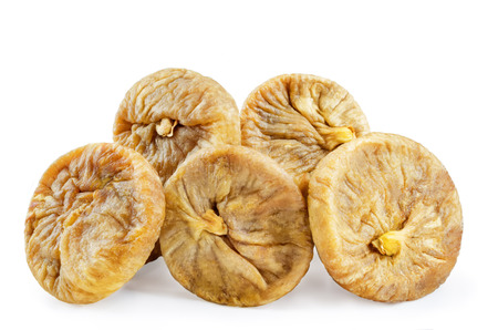 Dried Figs fruits isolated. toning. selective focus