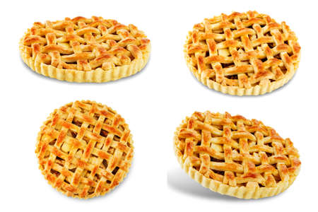 Apple pie on a white isolated background. tonung. selective focus 版權商用圖片