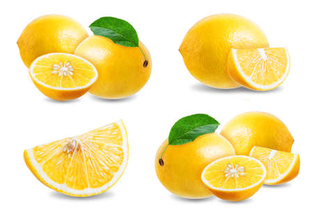 Lemon fruit on a white isolated background. tinting. selective focus Stock fotó
