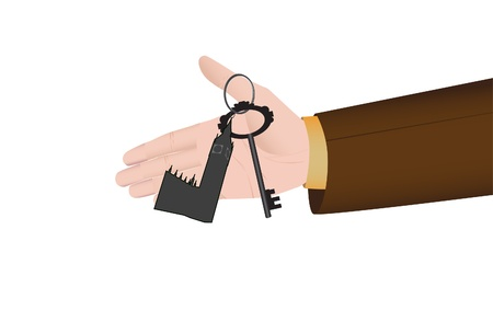 Hand holding a key from appartment or house as a concept of real estate market Stock Vector - 21650911