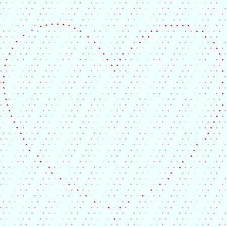Dotty seamless background with big heart organized of red dots for wallpaper and wrapping design Ilustração