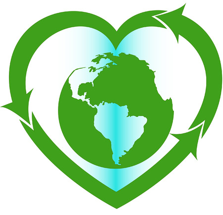 save earth: Love Earth eco oriented sign