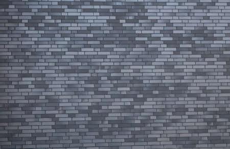 Gray brick wall, gloomy background, black brick wall of dark stone texture, black wallpaper.