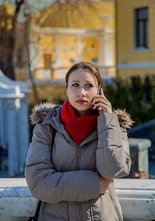 woman on phone: woman talking on the phone