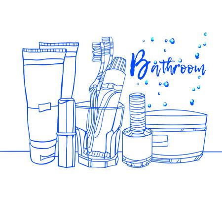 pomade: Bath room hand drawn icon
