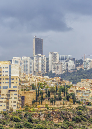 Ramot Almog - very beautiful area of the city of Haifa in Israel. Stock Photo