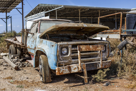 beat: Old, rusty truck stands on eternal parking