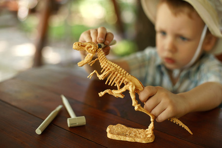 little boy wants to be an archaeologist