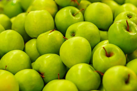 green apples: A lot of ripe green apples Stock Photo