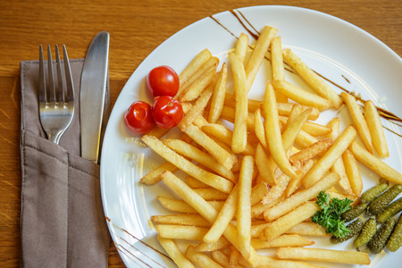 french fries plate: french fries on a plate close up