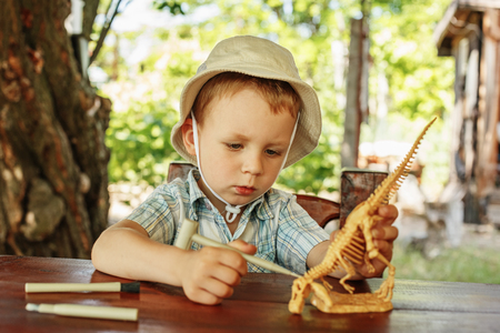 archaeologist: Cute little boy wants to be an archaeologist
