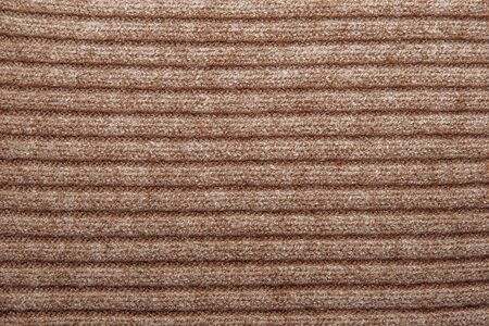 woolen: Brown ribbed woolen texture