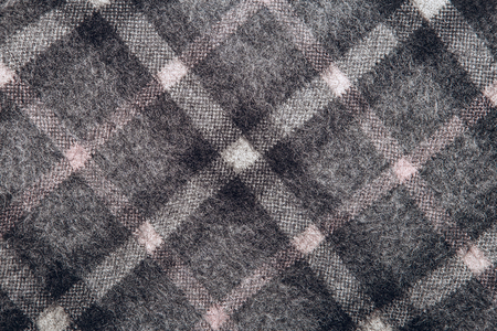 tricot: Traditional checked rhombus woolen knitted pattern. Stock Photo