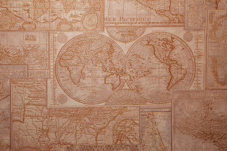 topographical: Old Topographical Map (Expedition background). Travel and nautical theme grunge background. Old world map vintage pattern.
