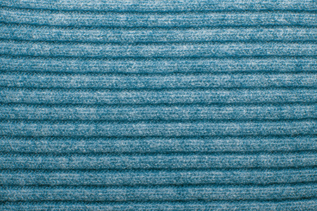 ribbed: Blue ribbed woolen texture Stock Photo
