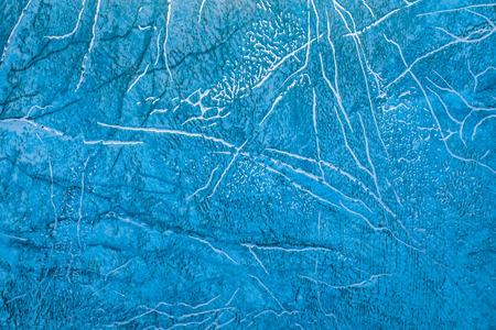 linoleum: linoleum texture background. Linoleum with blue abstract pattern with golden streaks Stock Photo